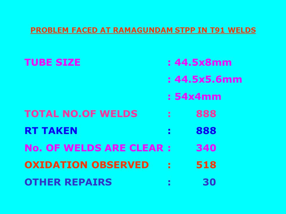 REASONS FOR USAGE OF T91 NIPPLES IN PLACE OF T22 FOR NTPC 500 MW PROJECTS RHO Header Nipples in all 210/250/500MW boilers engineered by BHEL are with SA335 P22 headers, T22 nipples and T22 for the ineffective portion of tubing above SH roof.