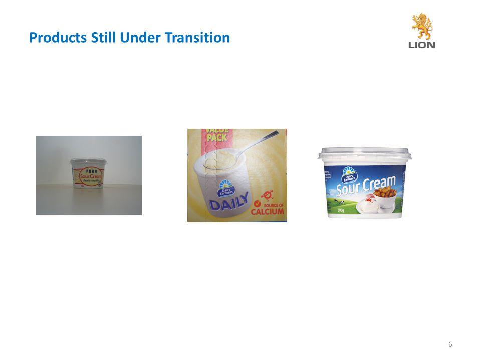 Products Still Under Transition 6