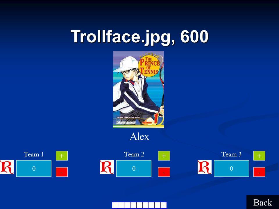 Trollface.jpg, 400 Back Honya 000 Team 1Team 2Team 3 + - + - + -