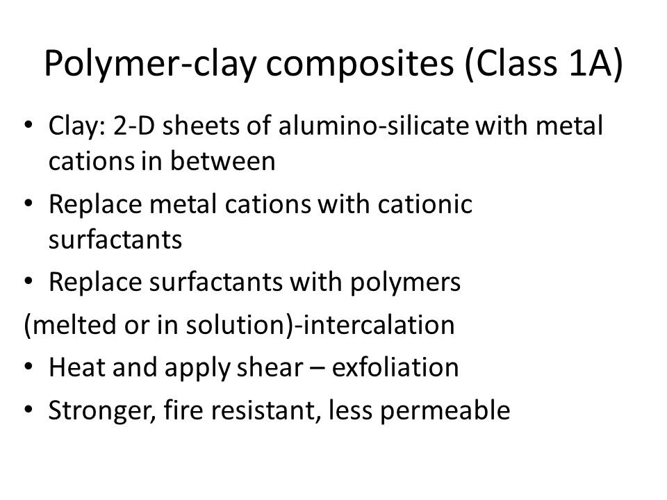 exfloliated intercalated Process for forming clay polymer composites
