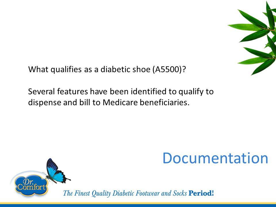 What qualifies as a diabetic shoe (A5500).