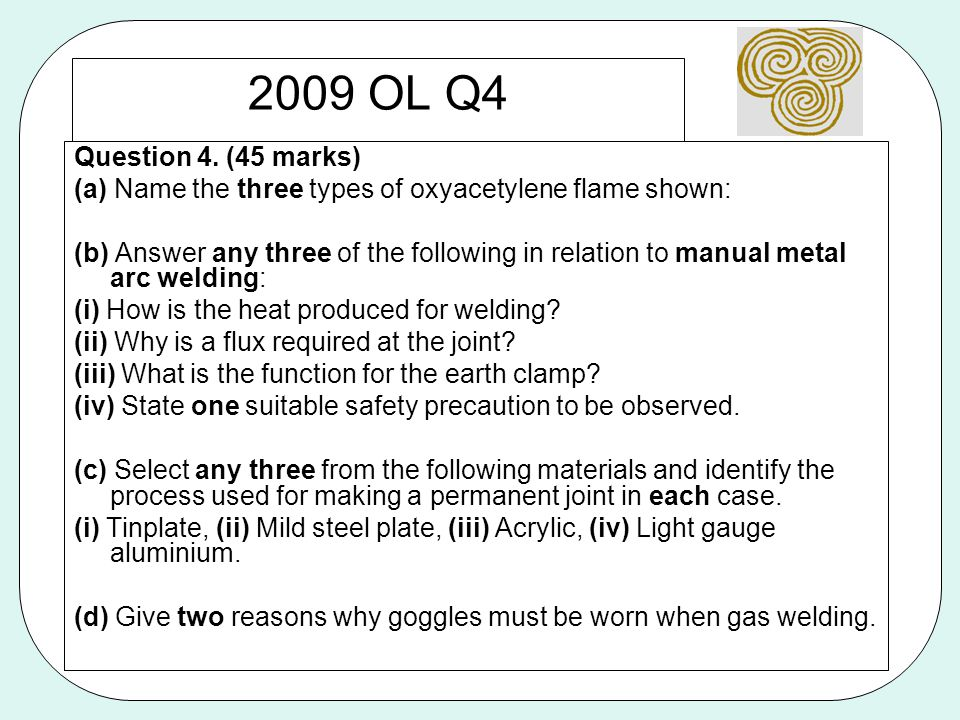 Engineering 2009 OL Q4 Ans QUESTION NO.