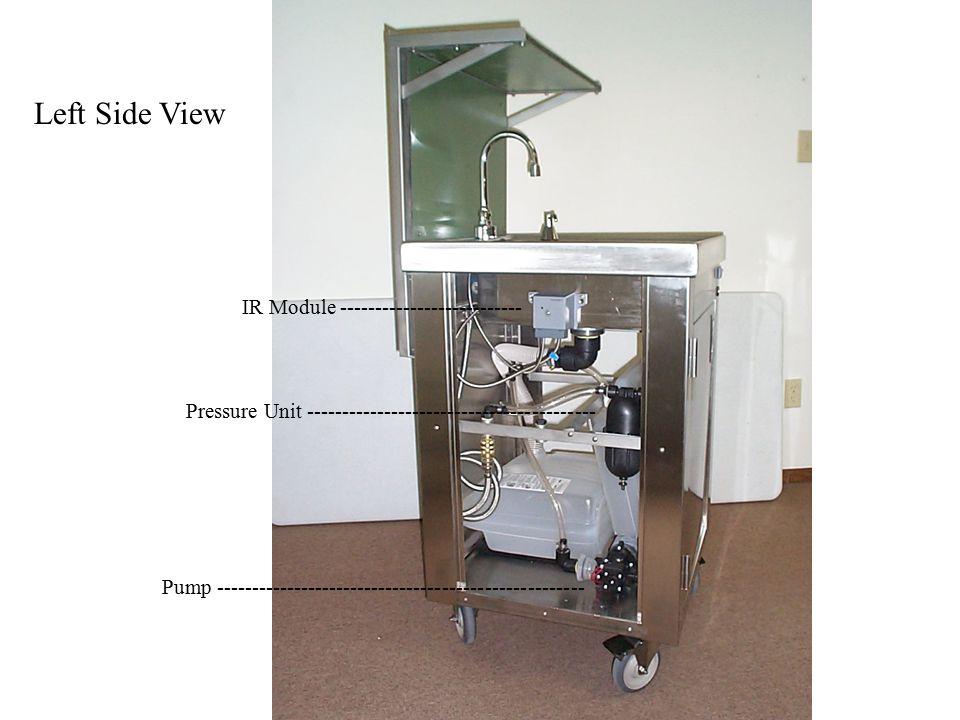 Right Side View Soap Dispenser Reservoir------------------------------------------------- Unit Battery -------------------------------------------------