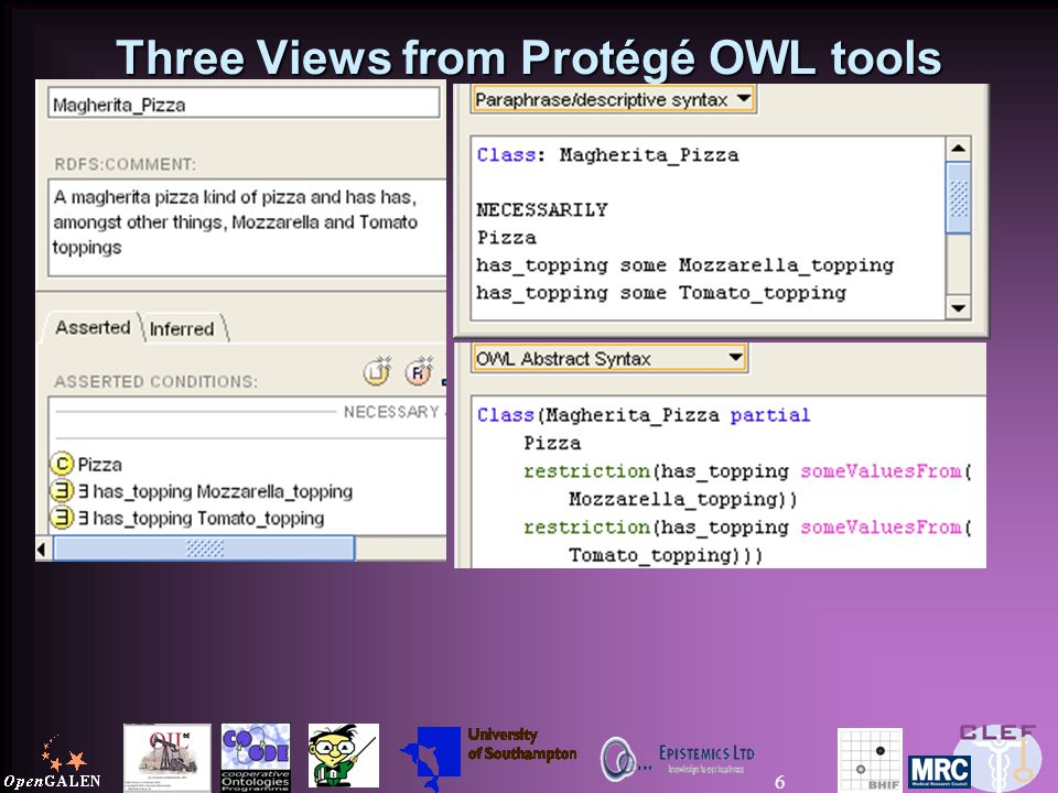 6 Three Views from Protégé OWL tools