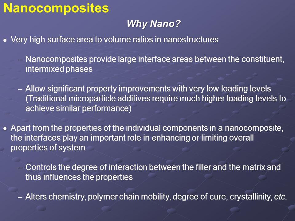 Nanostructure Properties  Surface and interface properties (e.g.