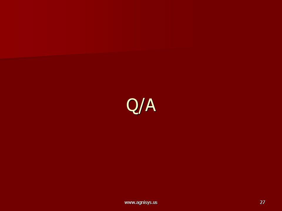 www.agnisys.us27 Q/A