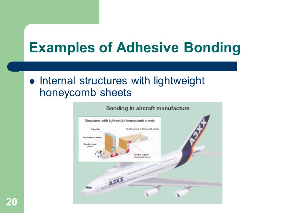 Examples of Adhesive Bonding Internal structures with lightweight honeycomb sheets 20