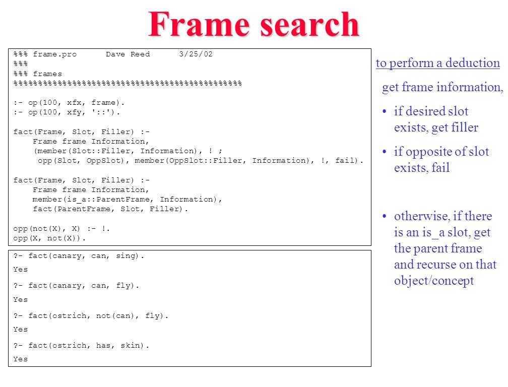 Frame search %% frame.pro Dave Reed 3/25/02 %% %% frames %%%%%%%%%%%%%%%%%%%%%%%% :- op(100, xfx, frame).