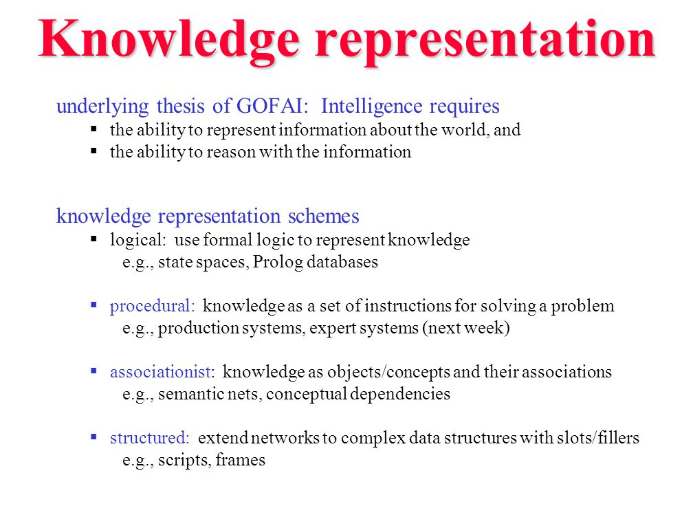 CD for natural language understanding in the context of natural language understanding, the Conceptual Dependency representation has interesting properties:  knowledge is represented using conceptual primitives  actual words/phrases are not stored directly  ideally, representation is independent of the original language (could be English, French, Russian, …) John sold Mary a book.