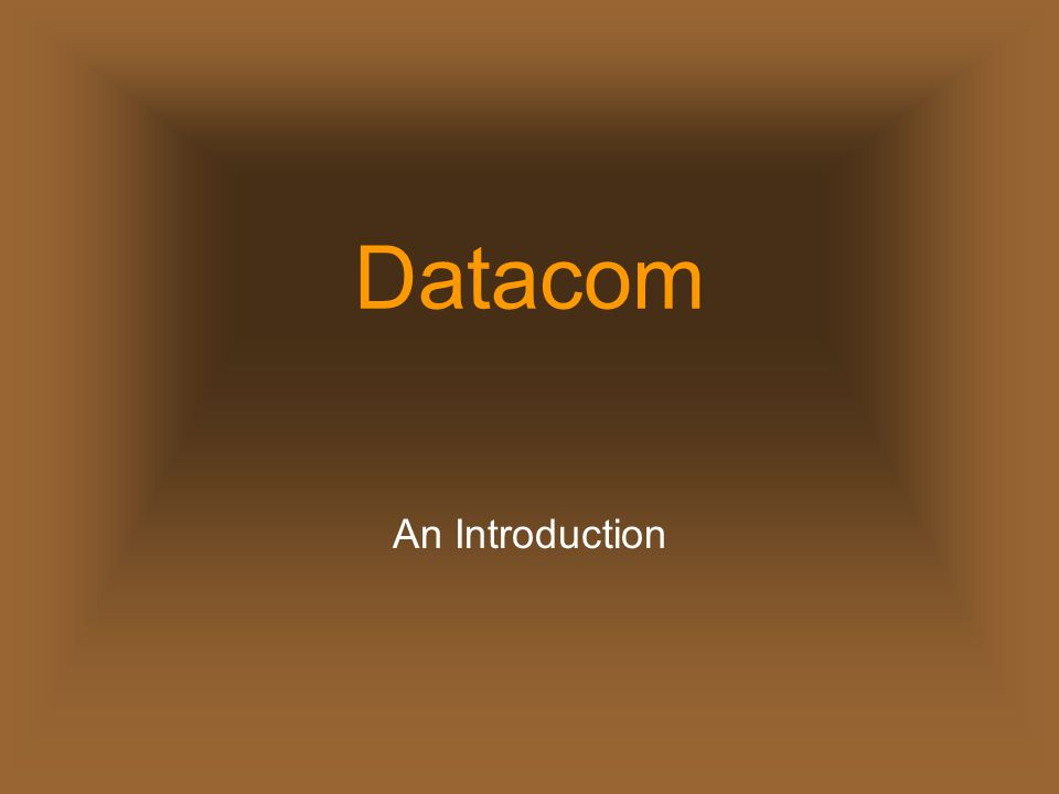 Datacom An Introduction