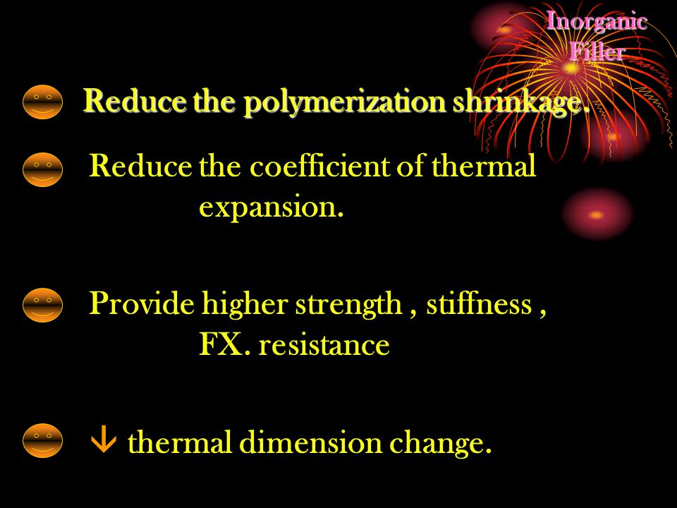 Reduce the coefficient of thermal expansion.Provide higher strength, stiffness, FX.