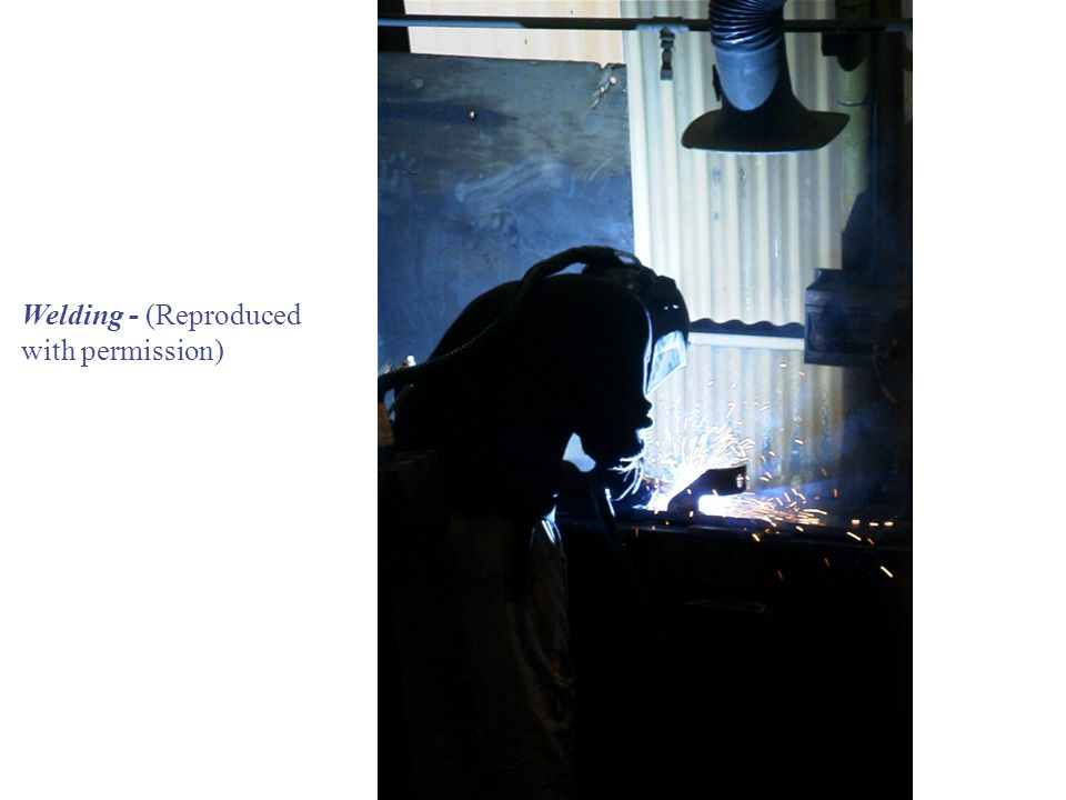 Welding - (Reproduced with permission)
