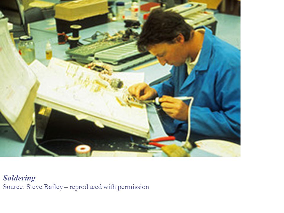 Soldering Source: Steve Bailey – reproduced with permission