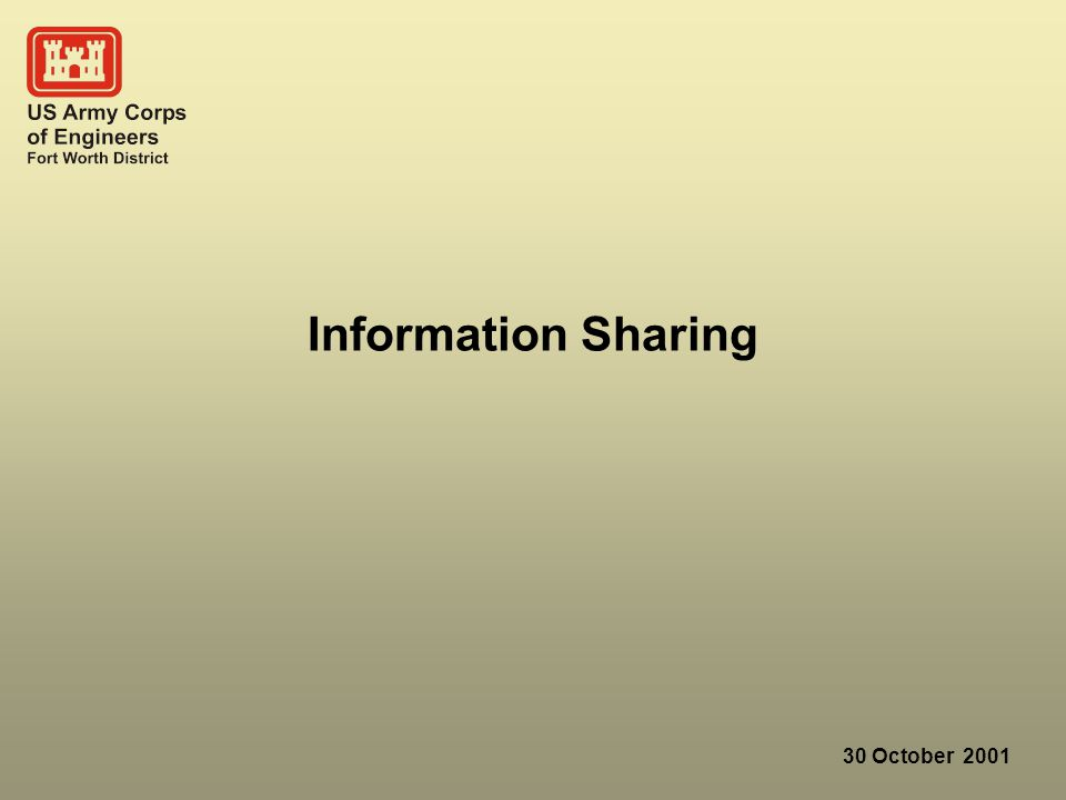 30 October 2001 Information Sharing