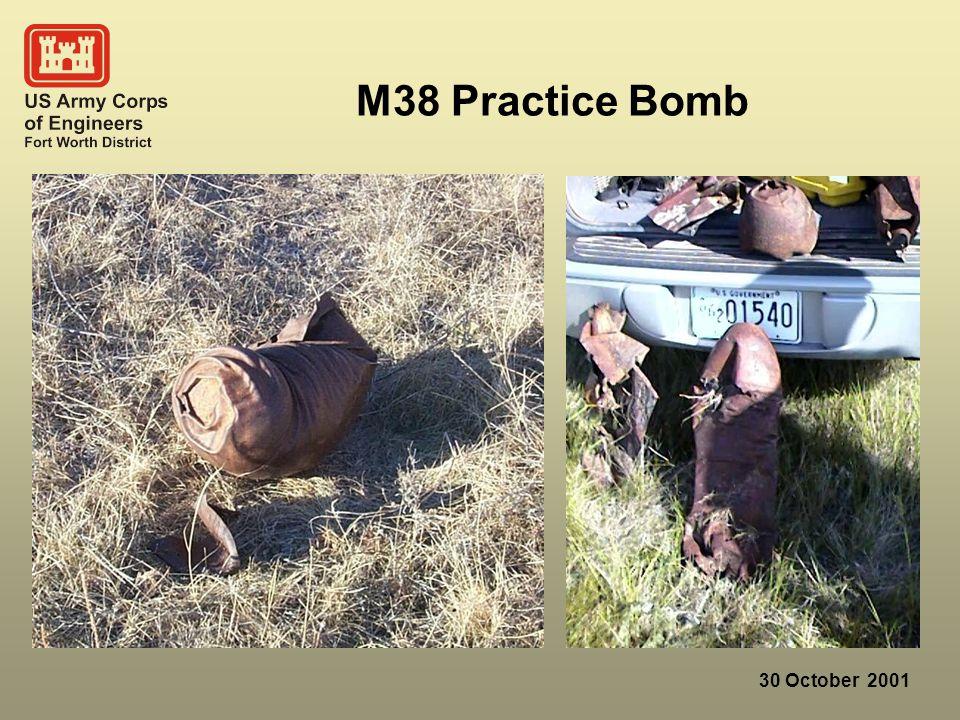 30 October 2001 M38 Practice Bomb
