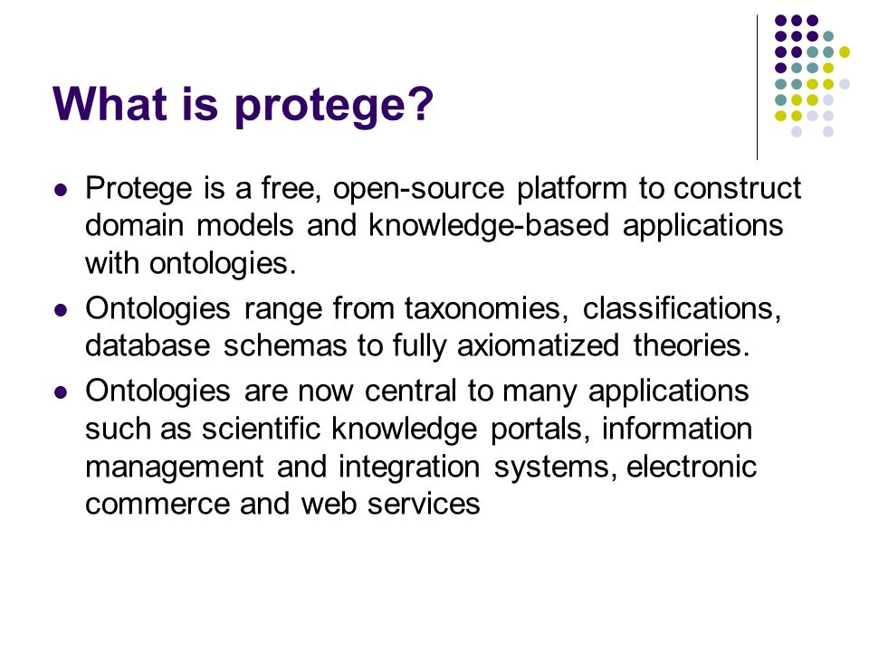 What is protege.