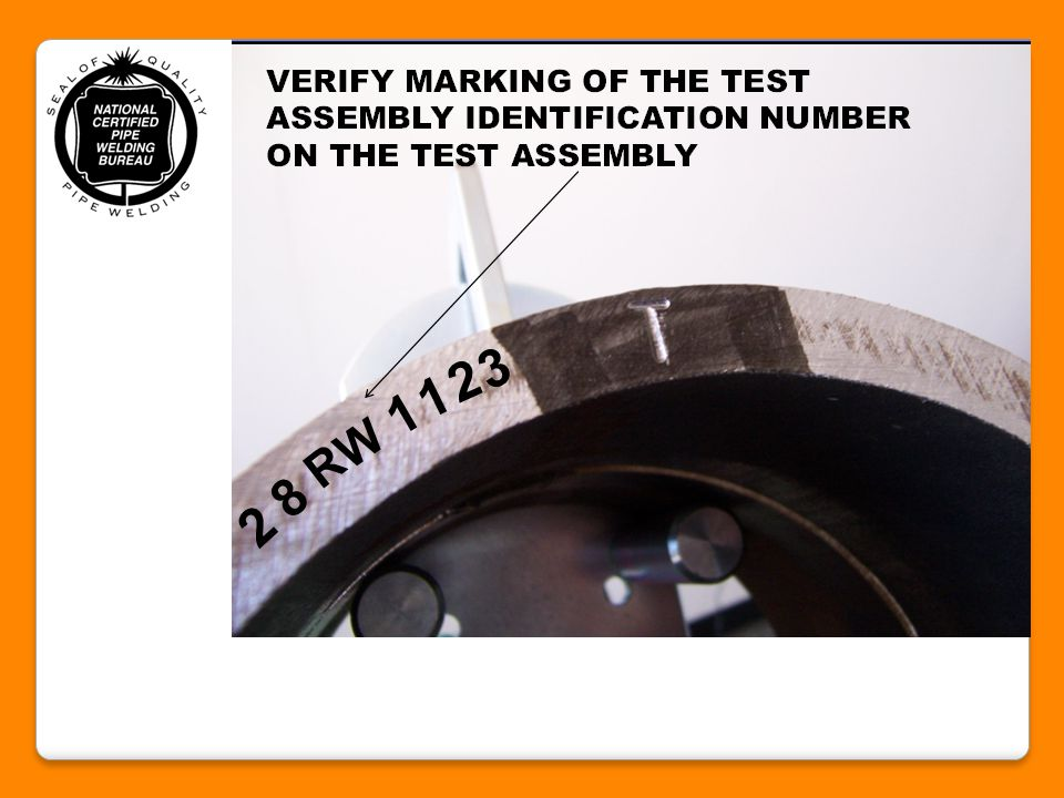 7.) Verify that the electrode or filler metal type to be used for the root and fill passes are correct and are used in proper sequence in accordance with the UA Weld Test Specification.