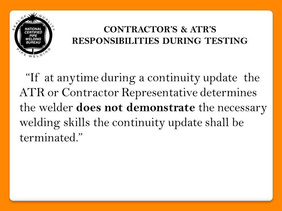 THE END QUESTIONS & ANSWERS NCPWB WELDER/BRAZER PERFORMANCE QUALIFICATIONS