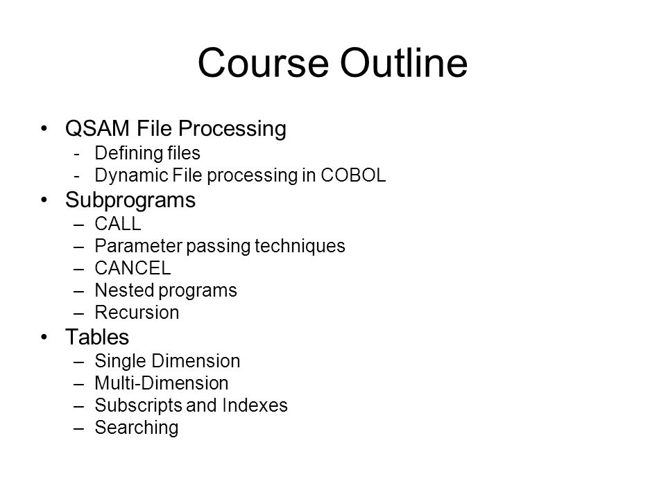 Exercise #25 Write an XML Cobol program that reads the file and copies it to memory.