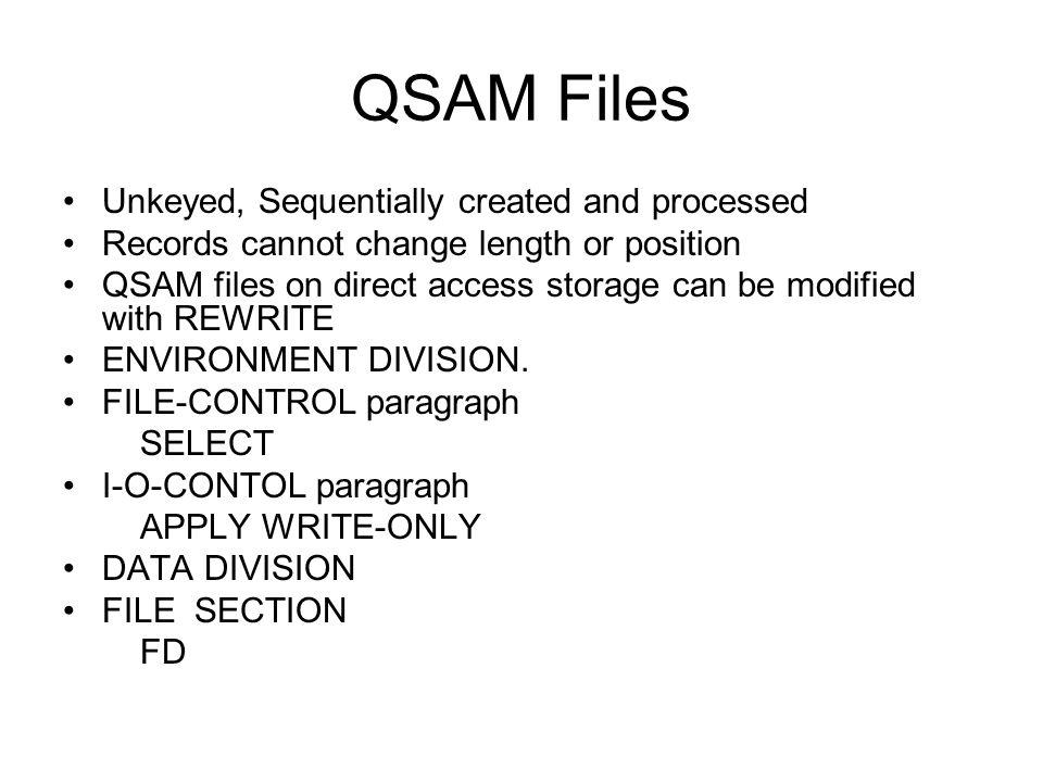 VSAM Components