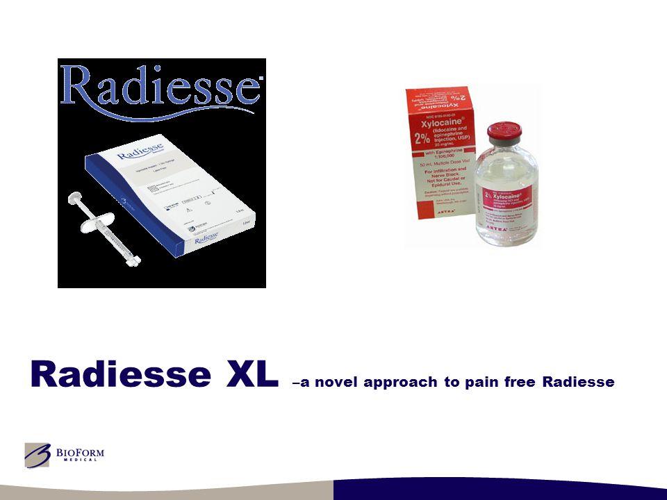 Radiesse XL –a novel approach to pain free Radiesse