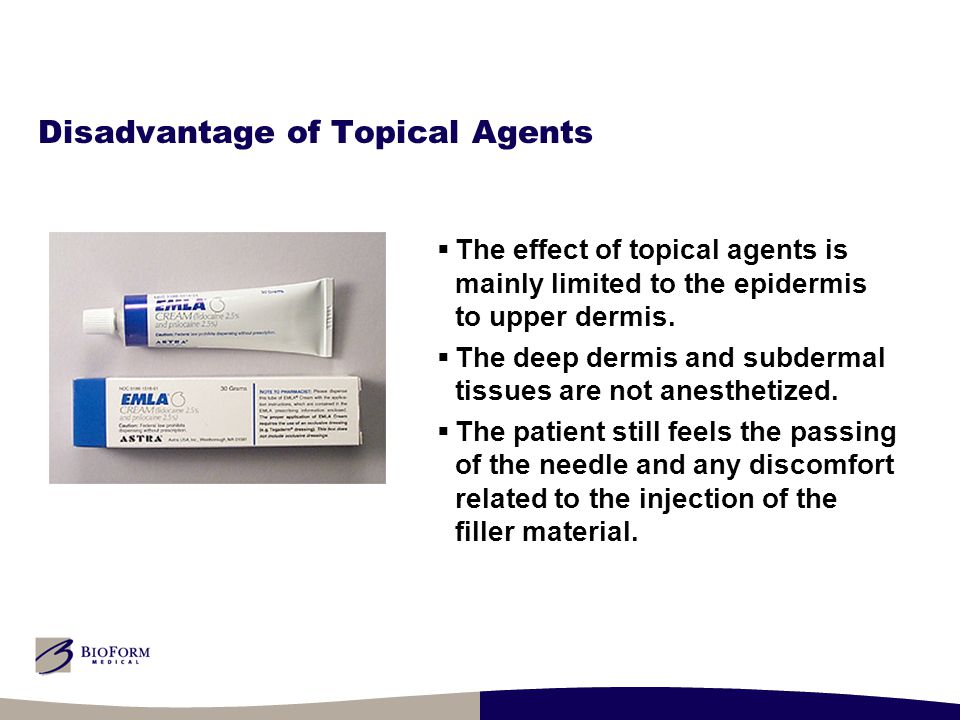 Disadvantage of Topical Agents  The effect of topical agents is mainly limited to the epidermis to upper dermis.  The deep dermis and subdermal tiss