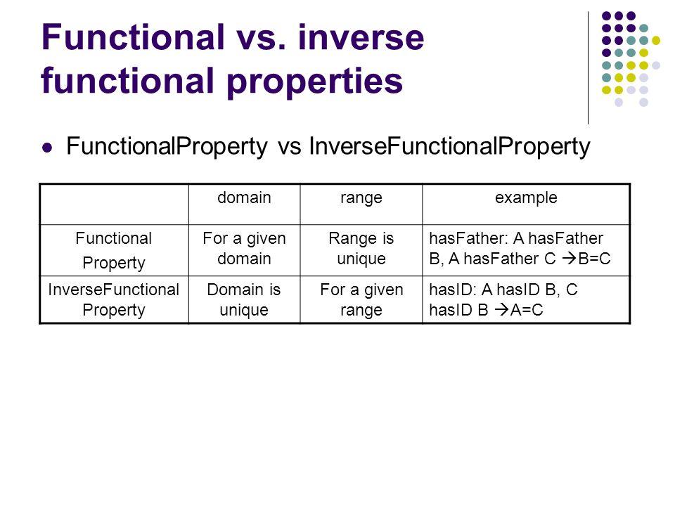 Functional vs.