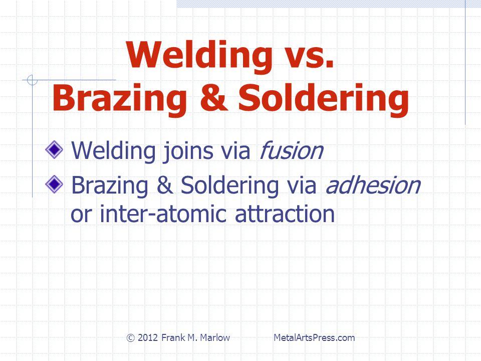 Welding vs.