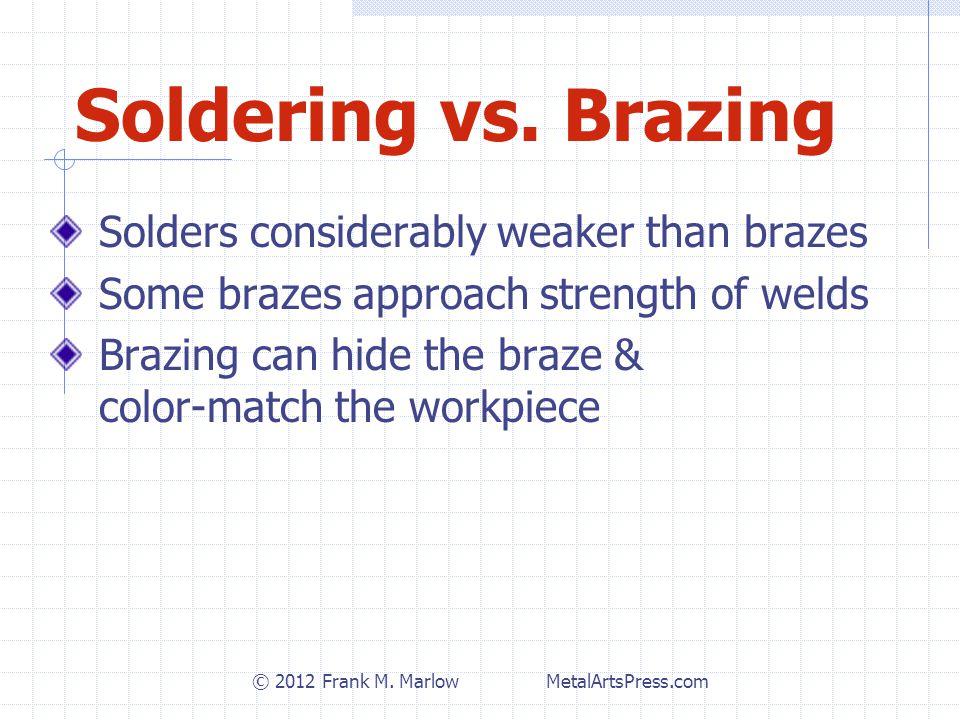 Soldering vs.