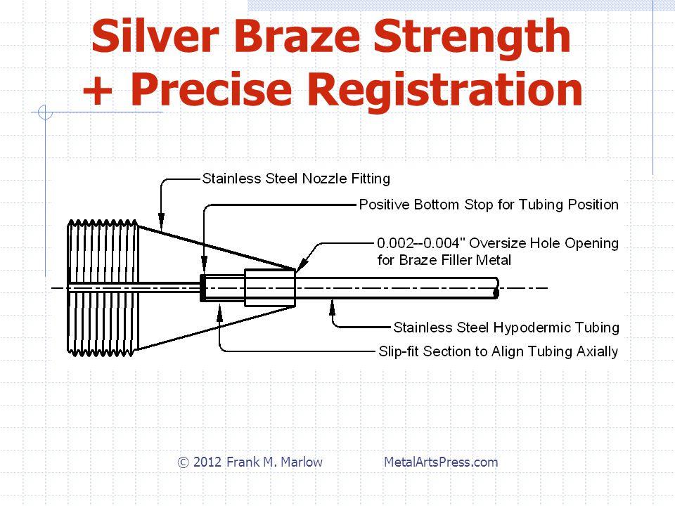 Silver Braze Strength + Precise Registration © 2012 Frank M. Marlow MetalArtsPress.com