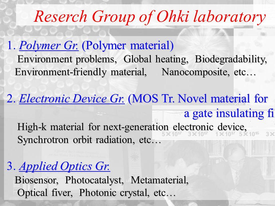 Polymer Gr. (Polymer material) 1. Polymer Gr.