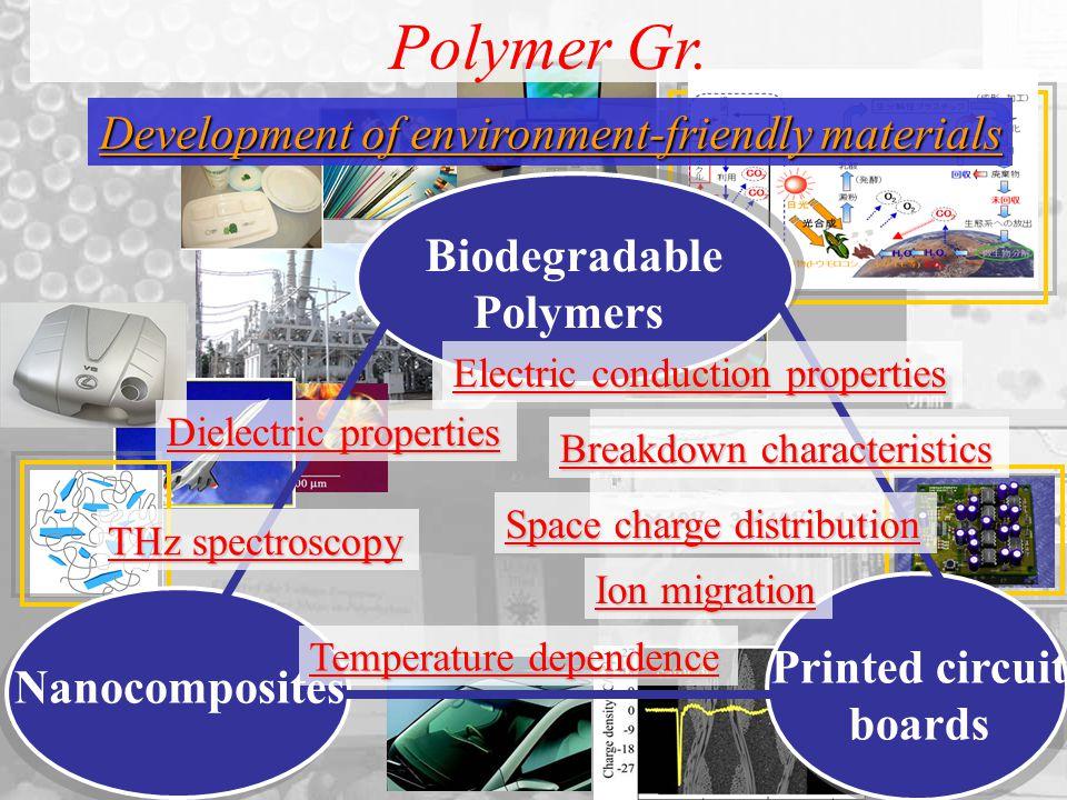 Development of environment-friendly materials Polymer Gr.