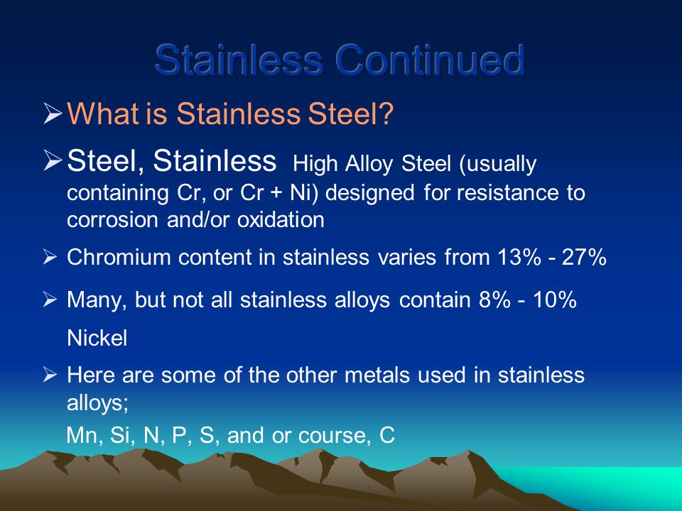  What is Stainless Steel.