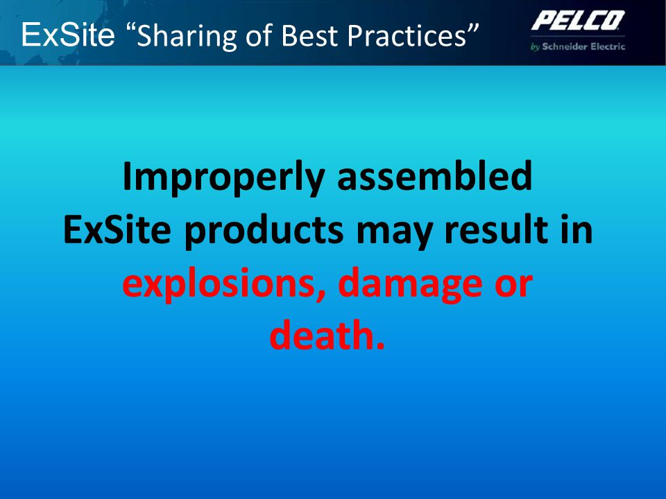ExSite Sharing of Best Practices