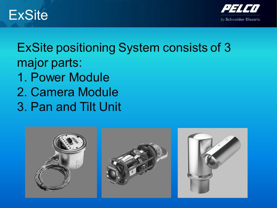 ExSite ExSite positioning System consists of 3 major parts: 1.