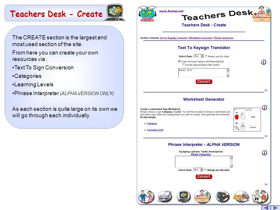 The CREATE section is the largest and most used section of the site.