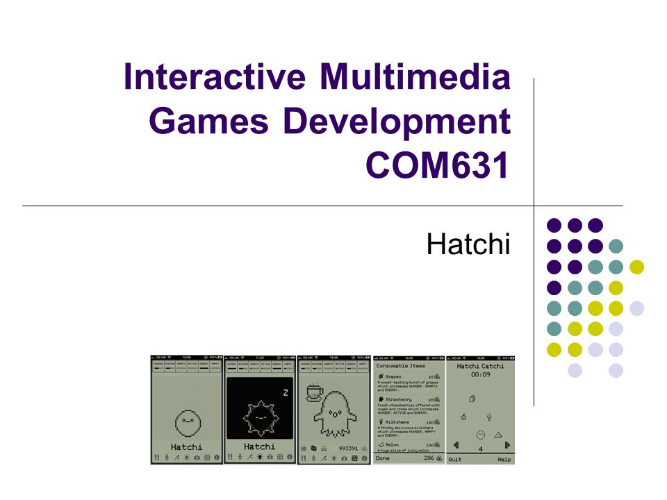 Interactive Multimedia Games Development COM631 Hatchi