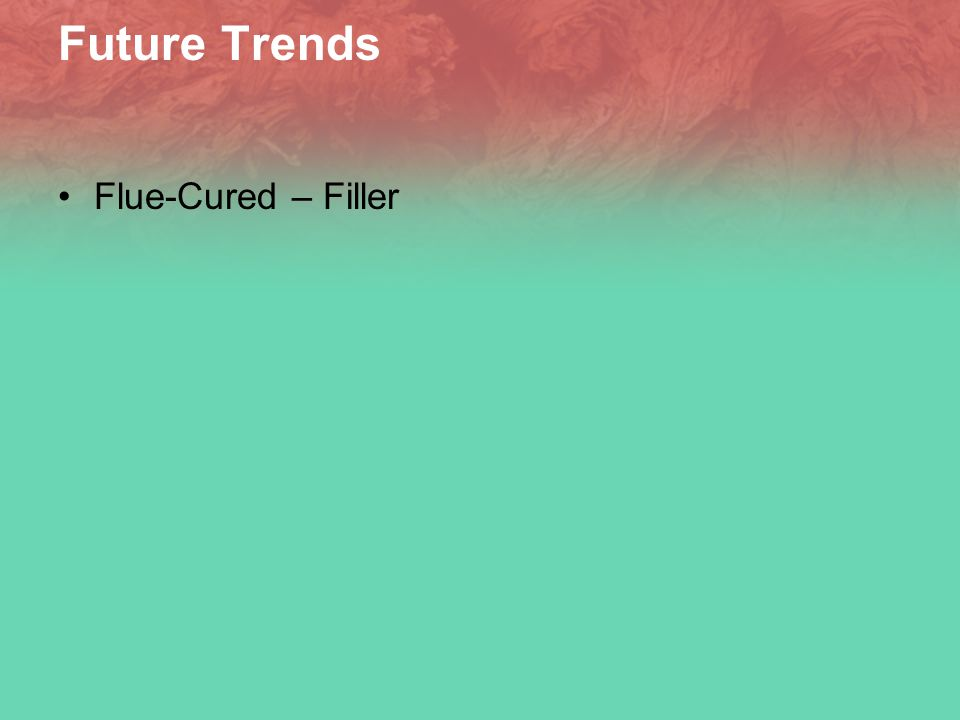 Future Trends Flue-Cured – Filler