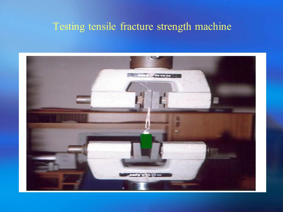 Testing tensile fracture strength machine