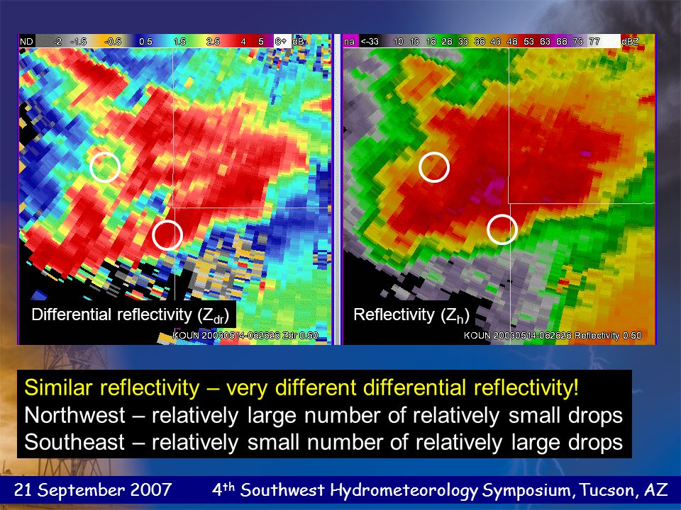 21 September 2007 4 th Southwest Hydrometeorology Symposium, Tucson, AZ Quantitative Precipitation Estimation Warm rain case – A very unusual DSD.