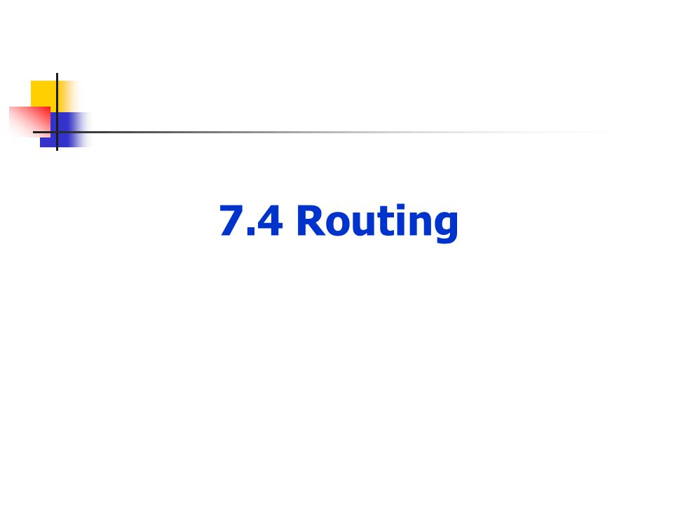 7.4 Routing