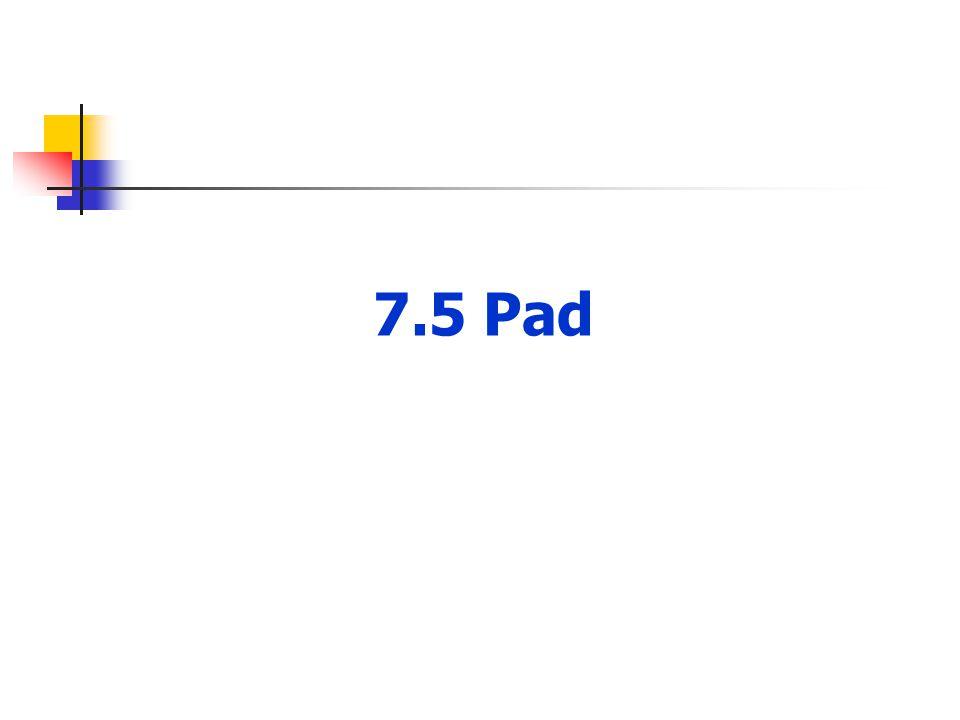 7.5 Pad
