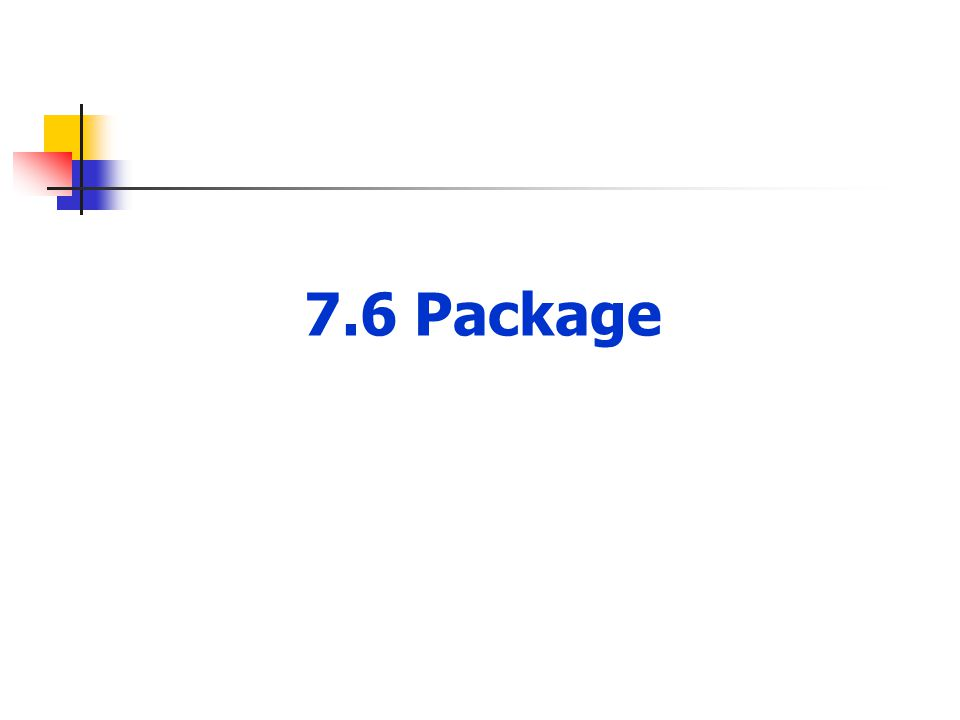 7.6 Package