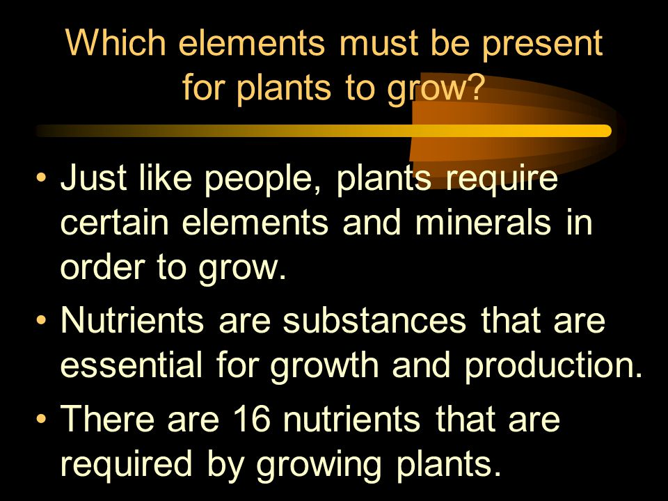 Visual observation Deficiency symptoms occur in plants that are not receiving all the necessary nutrients.