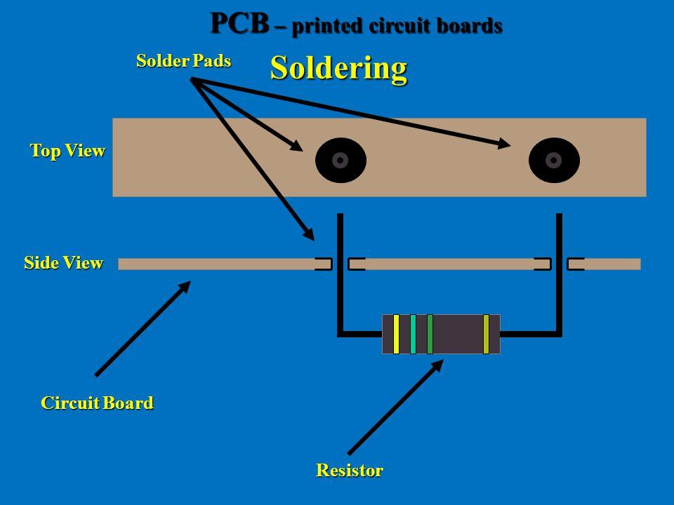 Soldering Circuit Board Resistor Solder Pads Side View Top View PCB – printed circuit boards