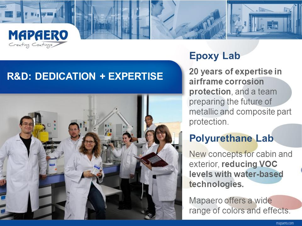 Polyurethane Lab New concepts for cabin and exterior, reducing VOC levels with water-based technologies.