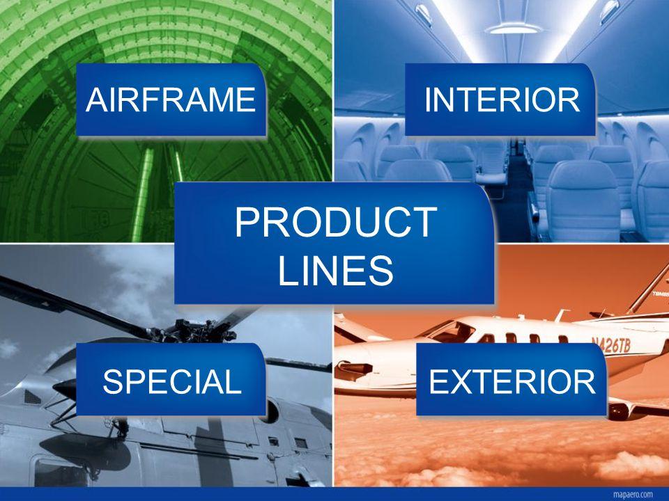 PRODUCT LINES AIRFRAMEINTERIOR EXTERIORSPECIAL