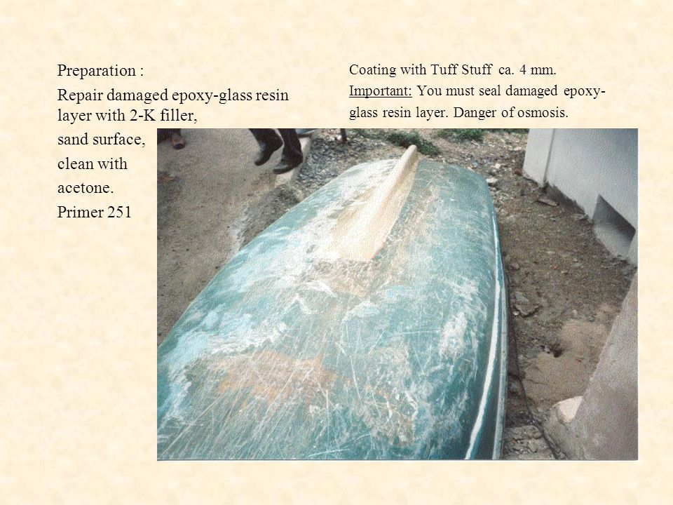 Example of a successful lining Description: Tuff Stuff is sprayed as a protective lining onto a truck bed.
