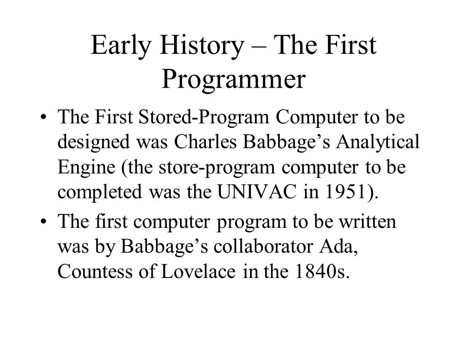 COBOL Commercial data processing was one of the earliest commercial applications of computers.
