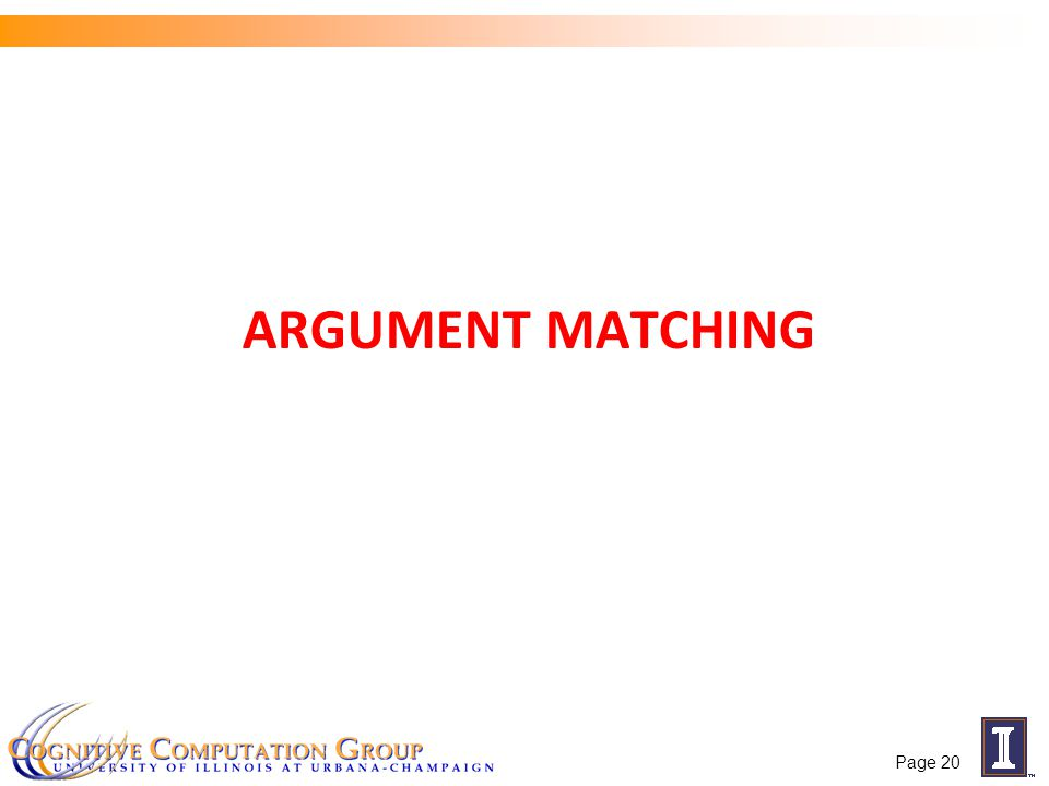 ARGUMENT MATCHING Page 20